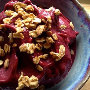 Cherry Banana Blueberry Sorbet