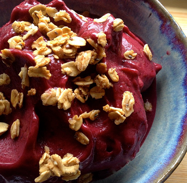Vegan Cherry Banana Sorbet