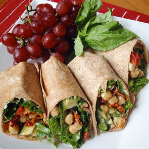 Chickpea & Hummus Wraps