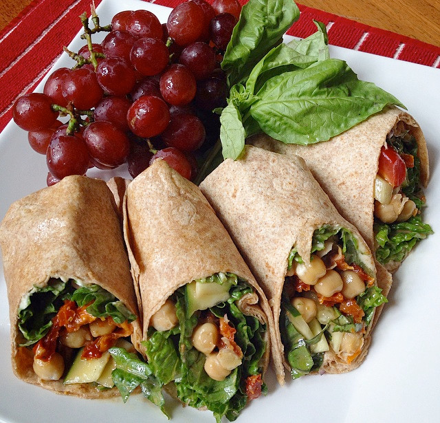 Vegan Chickpea & Hummus Wrap