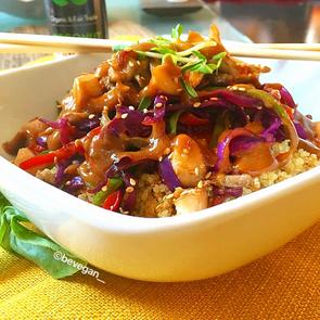 Sesame Ginger Tahini Veggie Bowl