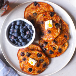 Gluten Free Banana Blueberry Pancakes!
