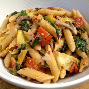 Pasta with  Spinach & Roasted Tomatoes
