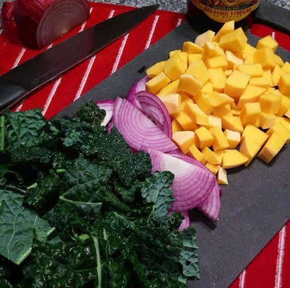 Balsamic Butternut Squash & Kale