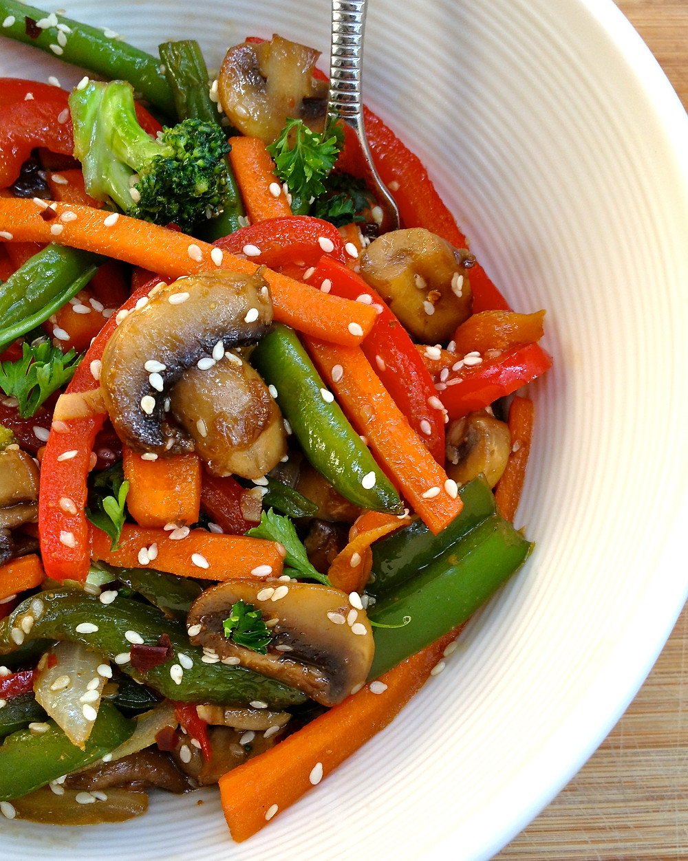 Sweet & Spicy Veggie Stir Fry