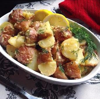 Vegan Potato Salad with Dijon Mustard & Dill