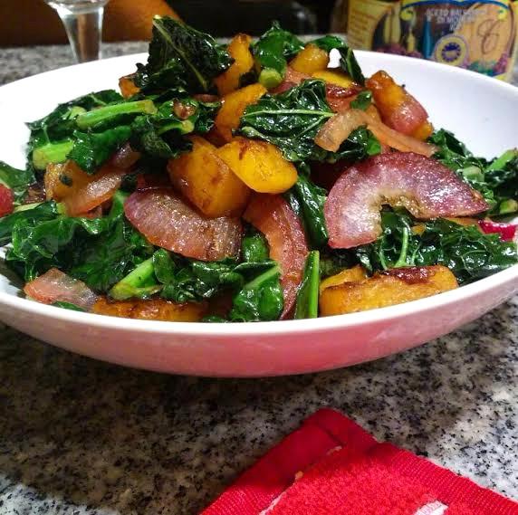 Balsamic Glazed Butternut Squash & Kale
