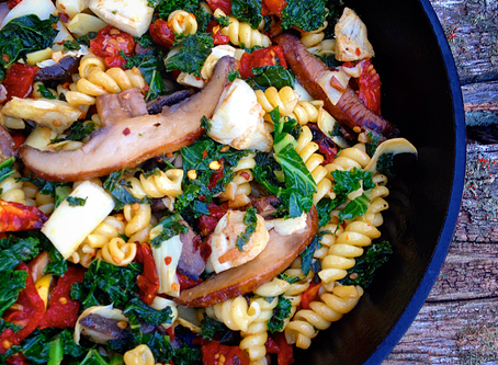 Pasta with Artichokes & Kale