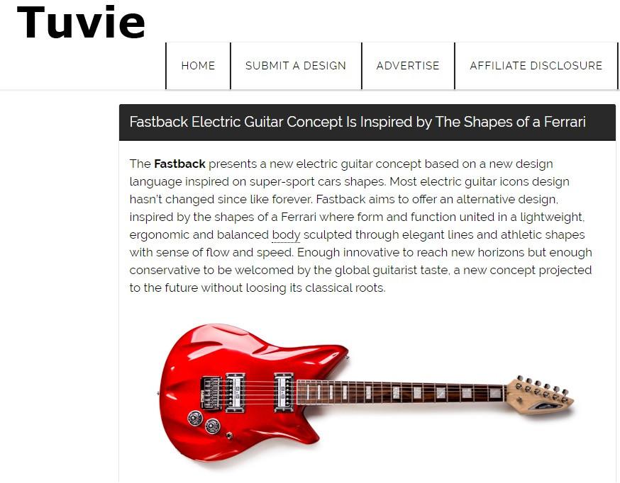 Tuvie - Fastback Electric Guitar