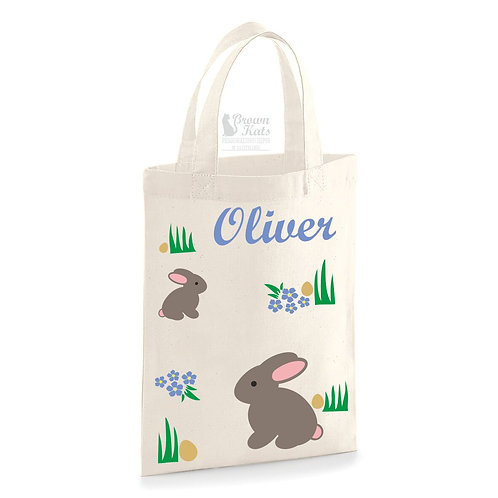 Bunny Easter egg hunt bag