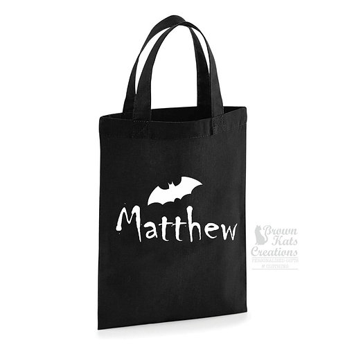 Printed bat trick or treat bag