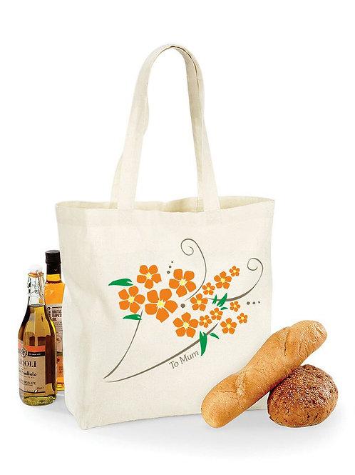 Personalised shopping bag - Flowers