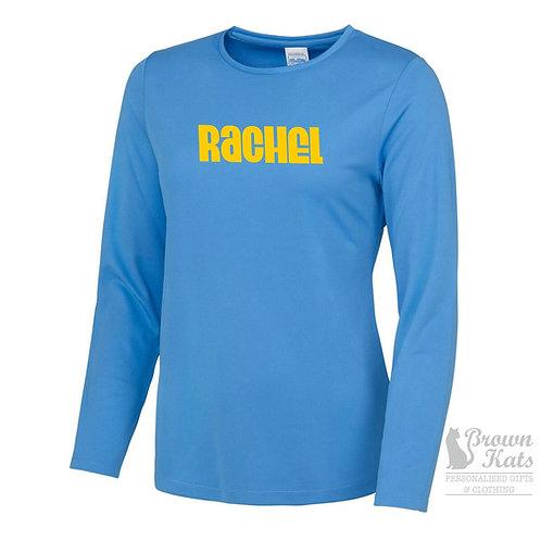 Womens long sleeve sports t-shirt