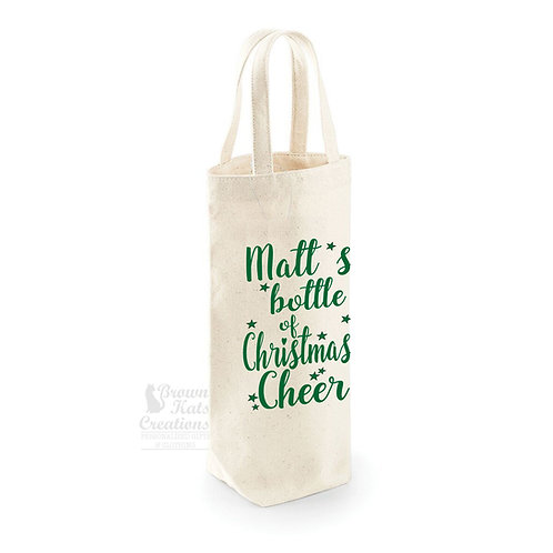 Christmas cheer bottle bag