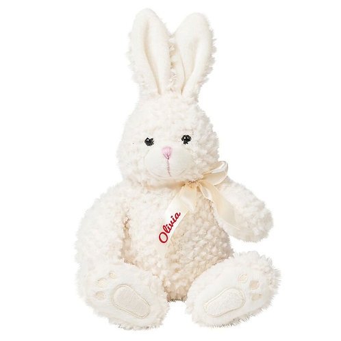 Bunny with personalised ribbon