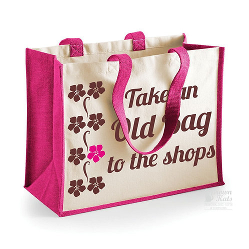 Take an old bag to the shops jute and canvas shopper