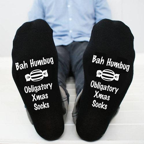 Bah Humbug Christmas socks