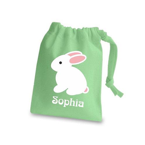 Easter bunny printed treats bag
