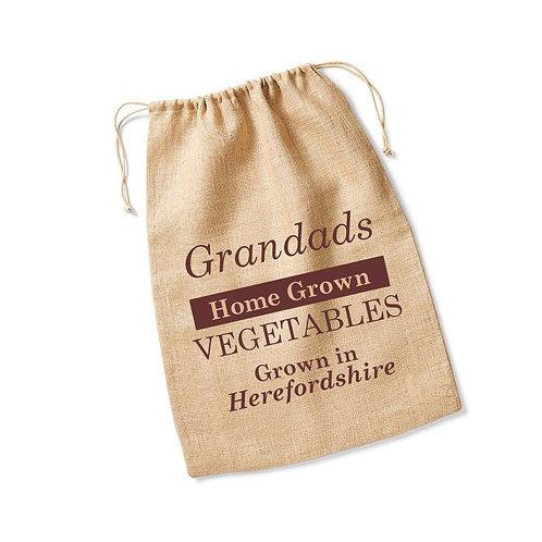 Personalised jute garden sack