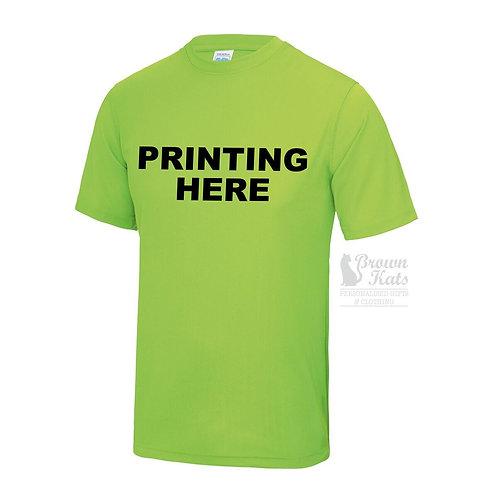 Printed sports performance t-shirt