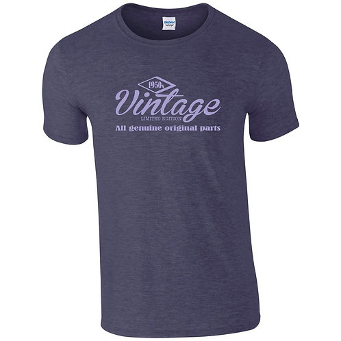 Personalised 'Vintage' t-shirt ideal for birthdays