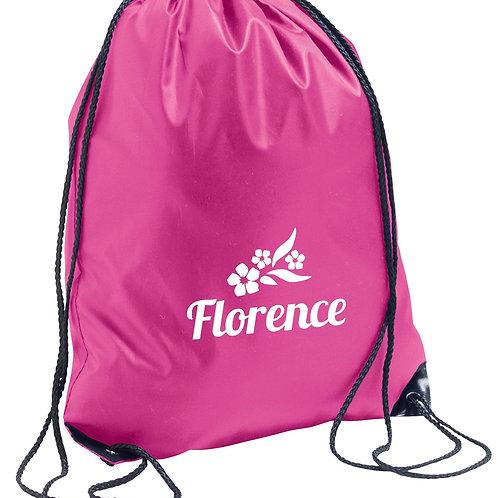 Childrens personalised PE bag - Flowers