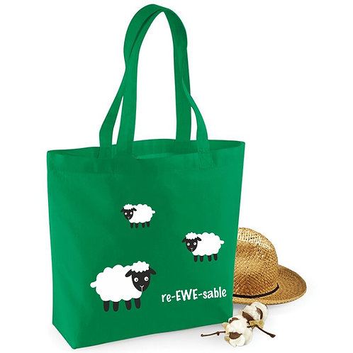 Re-EWE-sable cotton shopping bag