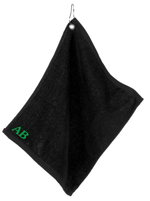 Personalised golf / fishing towel