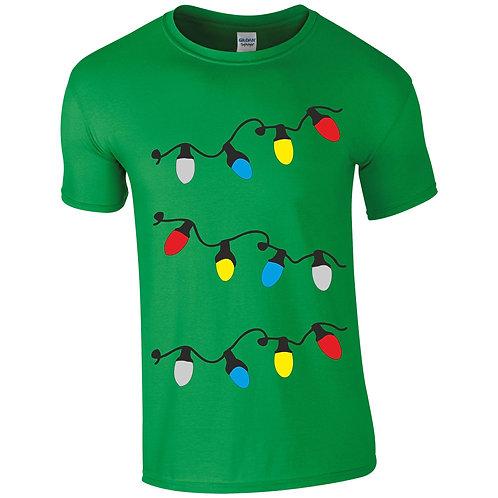Kids Christmas lights t-shirt