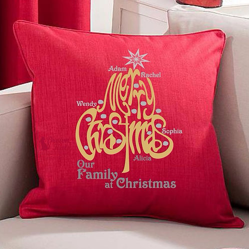Personalised 'Merry Christmas' cushion