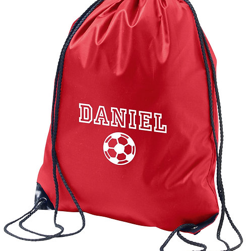 Personalised PE bag - football design