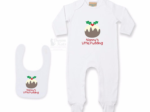 Baby's 'Christmas pudding' gift bundle