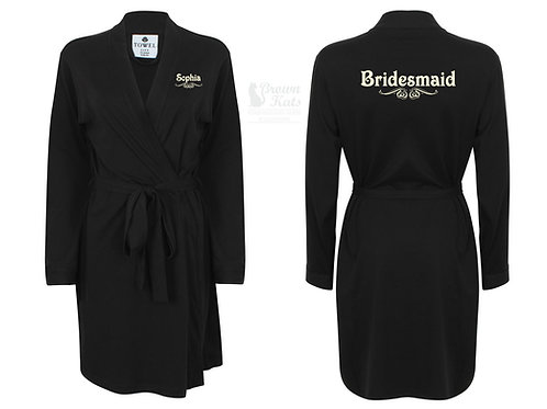 Personalised wedding robe victoriana design
