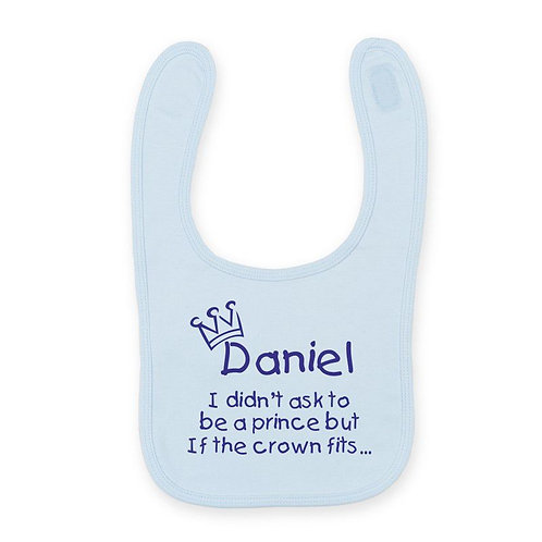 Prince / Princess printed bib