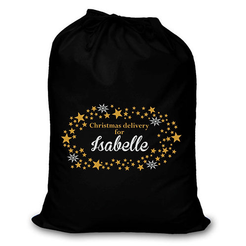 Christmas stars - Personalised Christmas sack