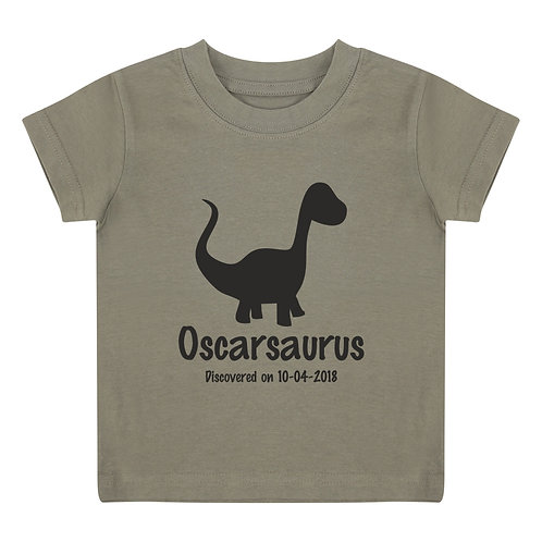 Personalised dinosaur toddler t-shirt