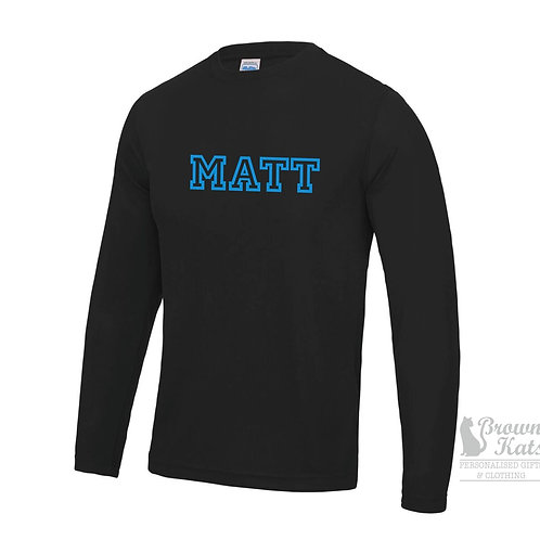 Long sleeve sports performance top