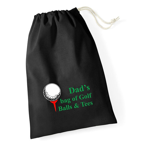 Personalised golf accessory stuff bag