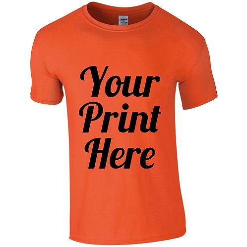 Custom print t-shirt adult