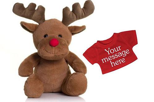 Personalised reindeer soft toy