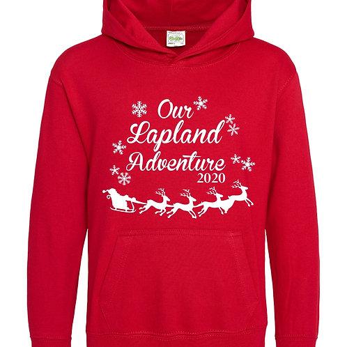 Kids Lapland adventure printed hoody