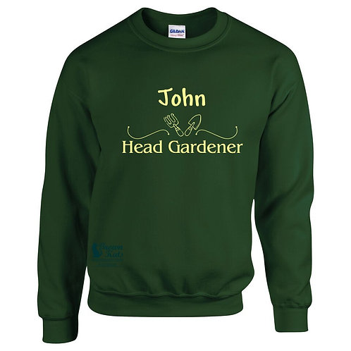 Personalised 'Head Gardener' sweatshirt
