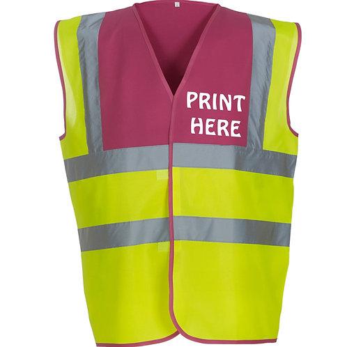 Custom print coloured Hi-Vis vest
