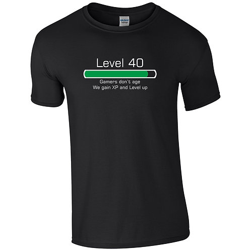 Gamers don't age printed t-shirt