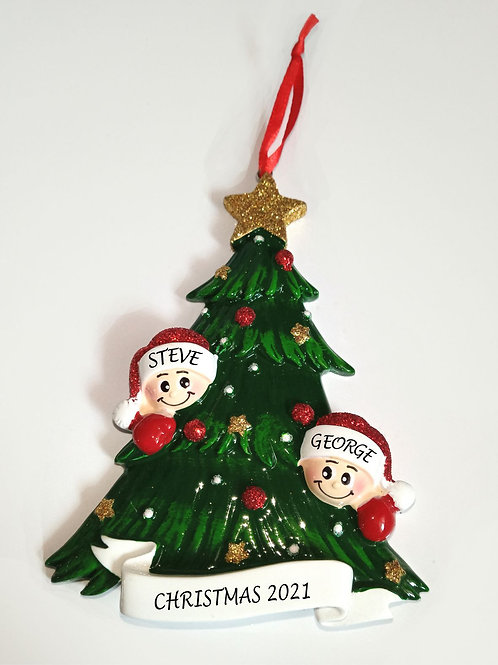 Personalised Christmas decoration - Christmas tree