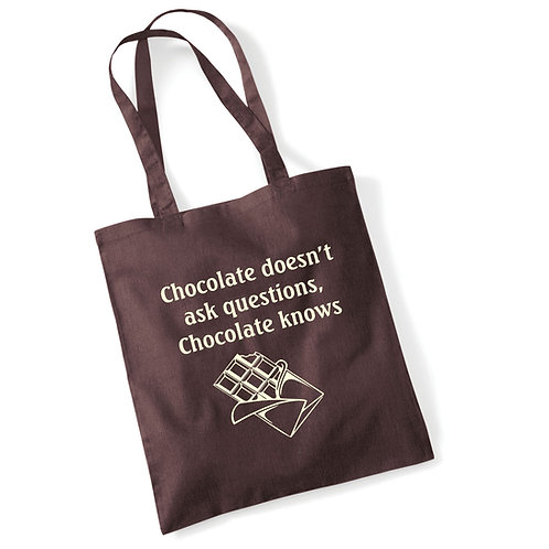'Chocolate knows' tote bag