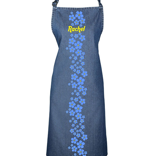 Personalised 'Forget-me-not' apron