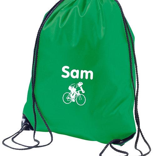 Childrens gym sac / PE bag - cycling design