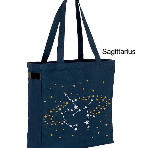 Zodiac denim canvas shopper bag