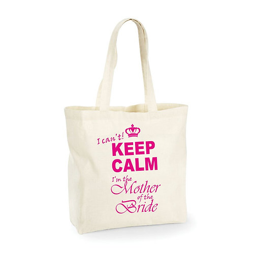 Personalised shopper bag - 'I can't Keep Calm'